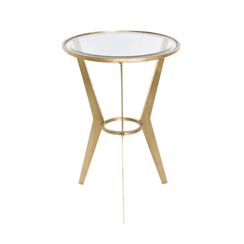 Worlds Away - Mid Century Gold Leaf Side Table - WILMA G