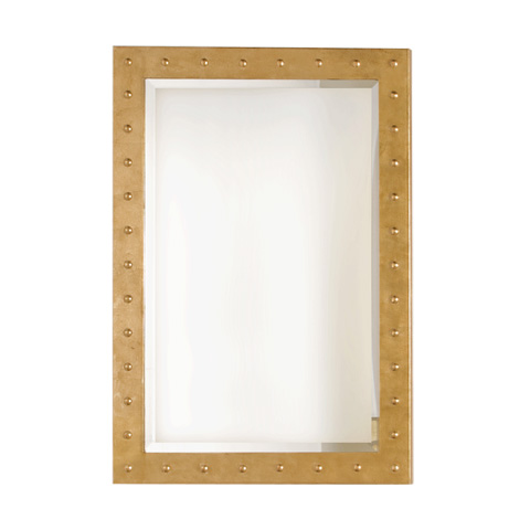 Worlds Away - Gold Leaf Studded Mirror - WILSON G