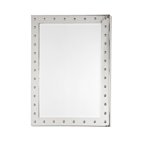 Worlds Away - Nickel Plated Studded Mirror - WILSON N