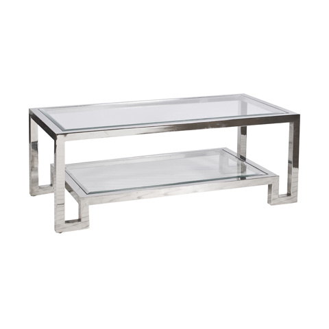 Worlds Away - Stainless Steel Coffee Table - WINSTON N