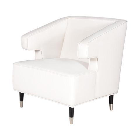 Worlds Away - White Linen Chair - ARTHUR WH