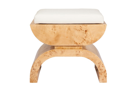 Worlds Away - Burl Wood Stool - BIGGS BW