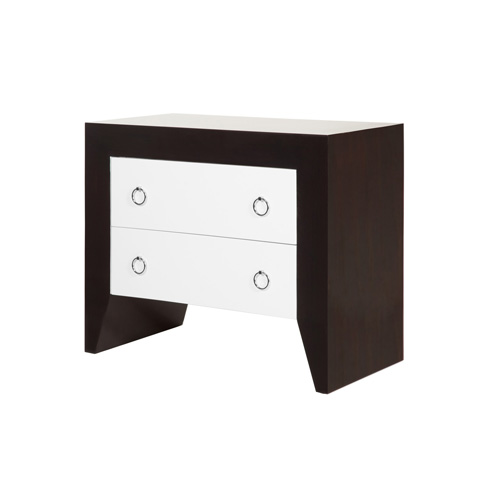 Worlds Away - Rosewood 2 Drawer Side Table - EASTON RWHN