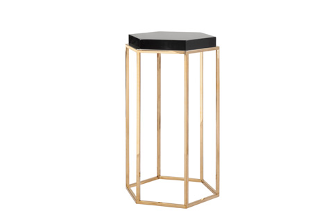 Worlds Away - Octagonal Occasional Table - ELSA BL