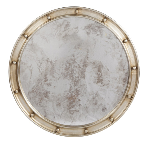 Worlds Away - Large Silver Leaf Mirror - FEDERAL SL