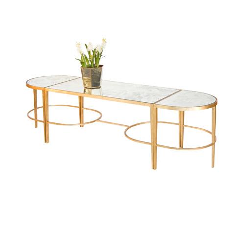 Worlds Away - 3 Piece Gold Leaf Sabre Leg Coffee Table - FNAMCF3