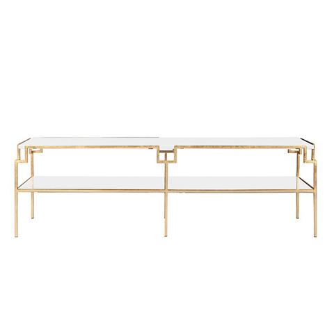 Worlds Away - Gold Leaf Coffee Table - HELEN GWH