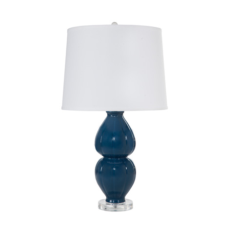 Worlds Away - Navy Ceramic Lamp - JULIA NVY