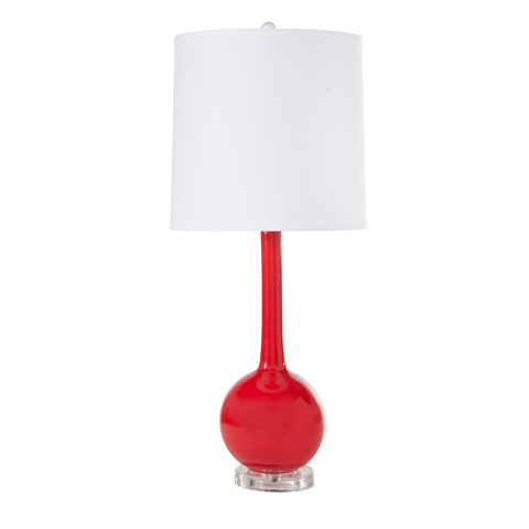 Worlds Away - Red Ceramic Lamp - LYDIA RD