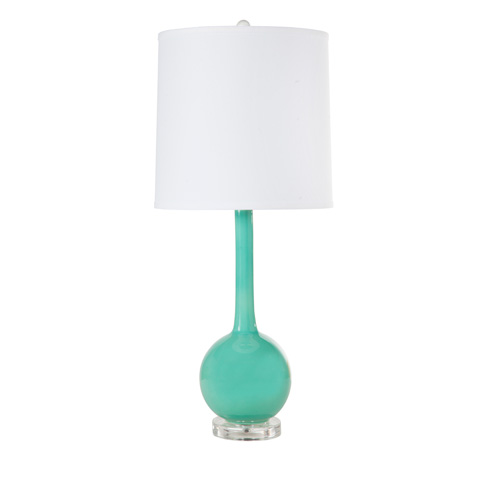 Image of Turquoise Ceramic Lamp