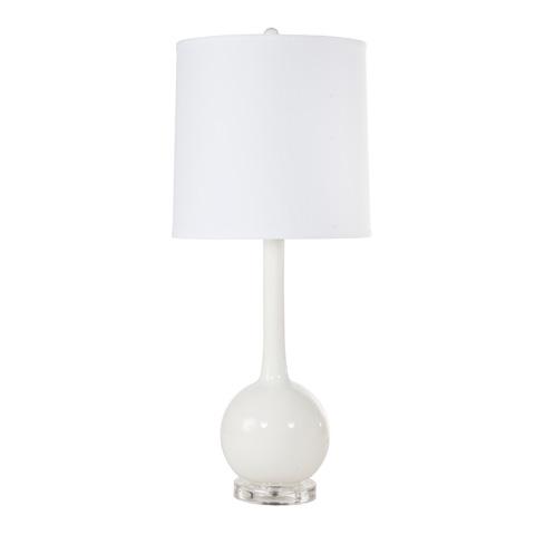 Worlds Away - White Ceramic Lamp - LYDIA WH