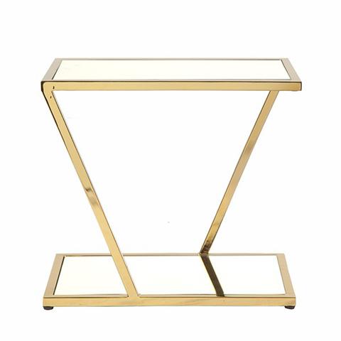 Worlds Away - Brass Rectangular Side Table - MIXON BR