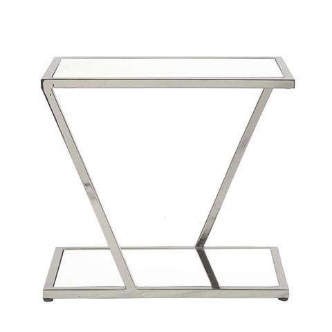 Worlds Away - Nickel Rectangular Side Table - MIXON N