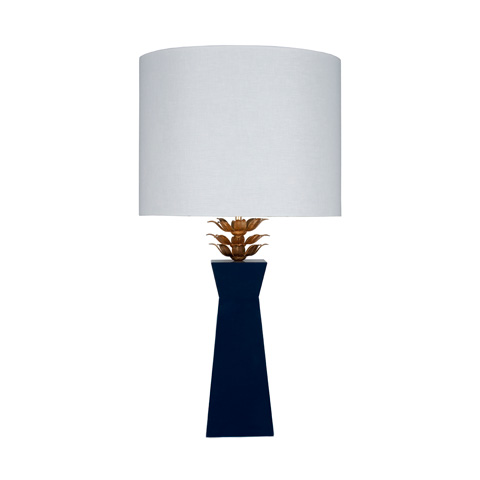 Worlds Away - Navy Lacquer Lamp - MORGAN NVY