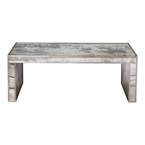 Worlds Away - Antique Mirror Coffee Table - PARSONS S