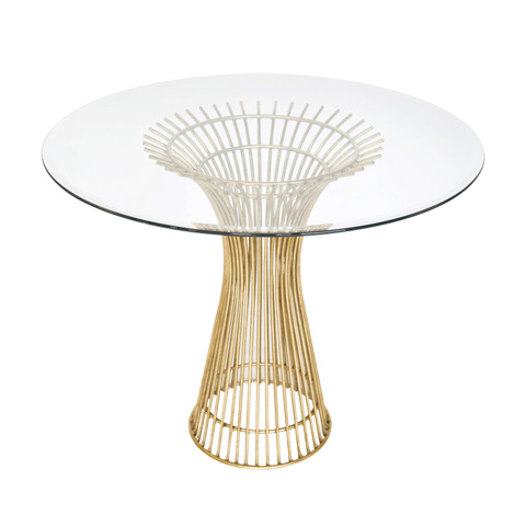 Worlds Away - Gold Leaf Iron Table - POWELL 36