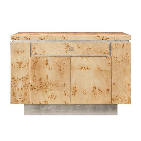 Worlds Away - Burl Wood Bar Cabinet - SHILOH BWS