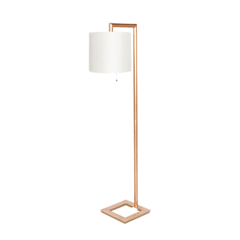 Worlds Away - Gold Leaf Right Angle Floor Lamp - STEPHAN G