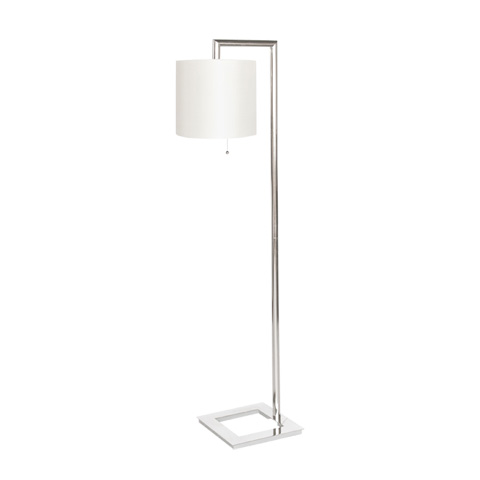 Worlds Away - Nickel Plated Right Angle Floor Lamp - STEPHAN N