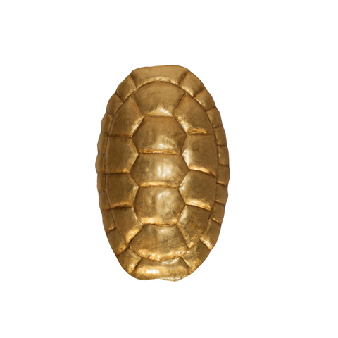 Worlds Away - Turtle Shell Sconce in Gold Leaf - DONATELLO G