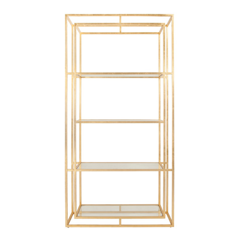 Worlds Away - Double Frame Etagere in Gold Leaf - FLETCHER G