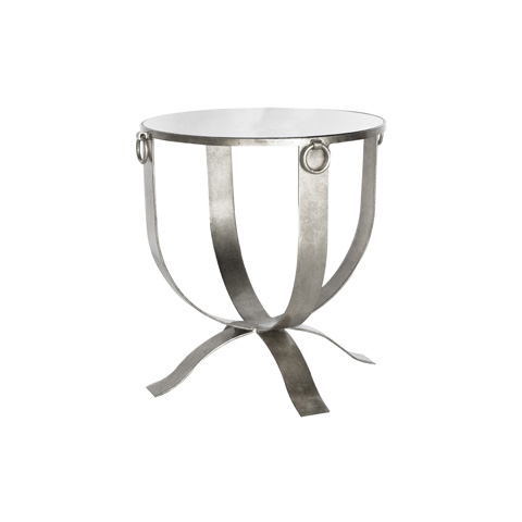 Worlds Away - Silver Leafed Milano Accent Table - FNAMSRS