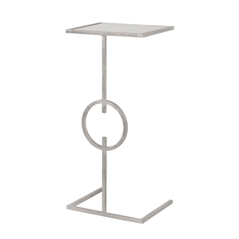 Worlds Away - Cigar Table in Silver Leaf - GEORGIA S