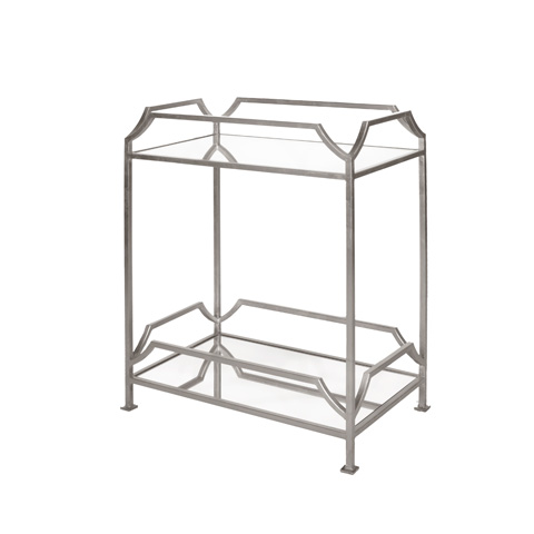 Worlds Away - Rectangular Iron Two Tier Side Table - JOSHUA S