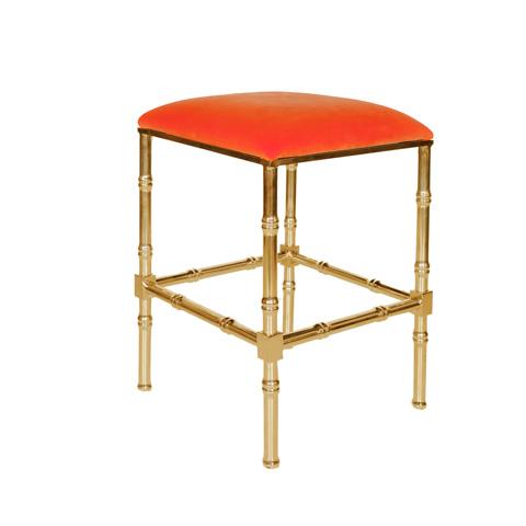 Worlds Away - Brass Bamboo Counter Stool - SADLER OR