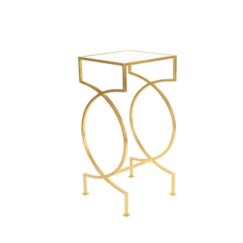 Worlds Away - Iron Side Table in Gold Leaf - SAMANTHA G