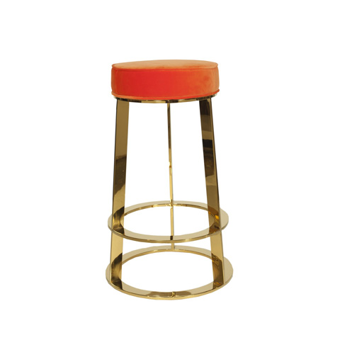 Worlds Away - Brass Round Counter Stool - SAMSON OR
