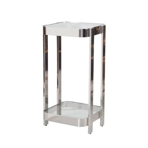 Worlds Away - Two Tier Iron Side Table In Nickel - SHELDON N