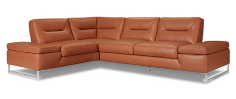 Image of Chiara Leather Sectional Sofa