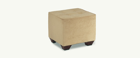 Younger Furniture - Tufted Ottoman with Legs - 1042