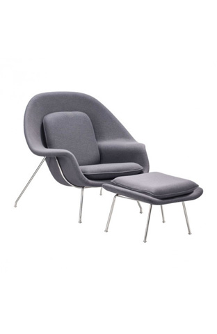 Zuo Modern Contemporary, Inc. - Nursery Lounge Chair and Ottoman - 501153