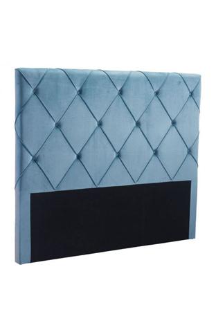 Zuo Modern Contemporary, Inc. - Matias Queen Headboard in Blue Velvet - 100254