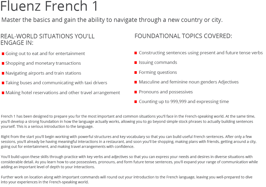 project topics in french language