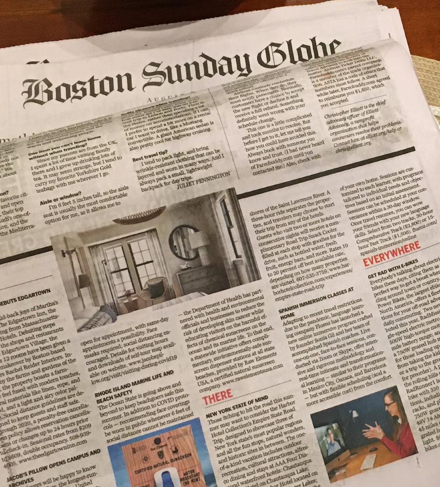 The Boston Globe on Fluenz's Live Tutoring Online