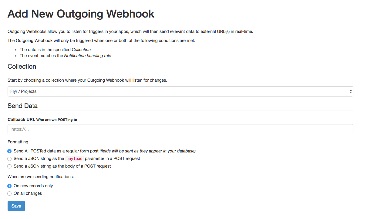 Introducing outgoing webhooks
