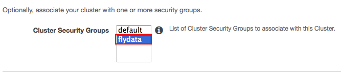 Assigning Security Group to Redshift
