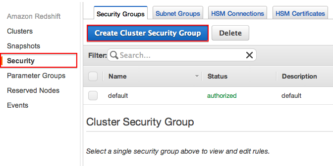 FlyData Heroku Redshift Security Settings