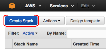 AWS - cloud formation - create stack