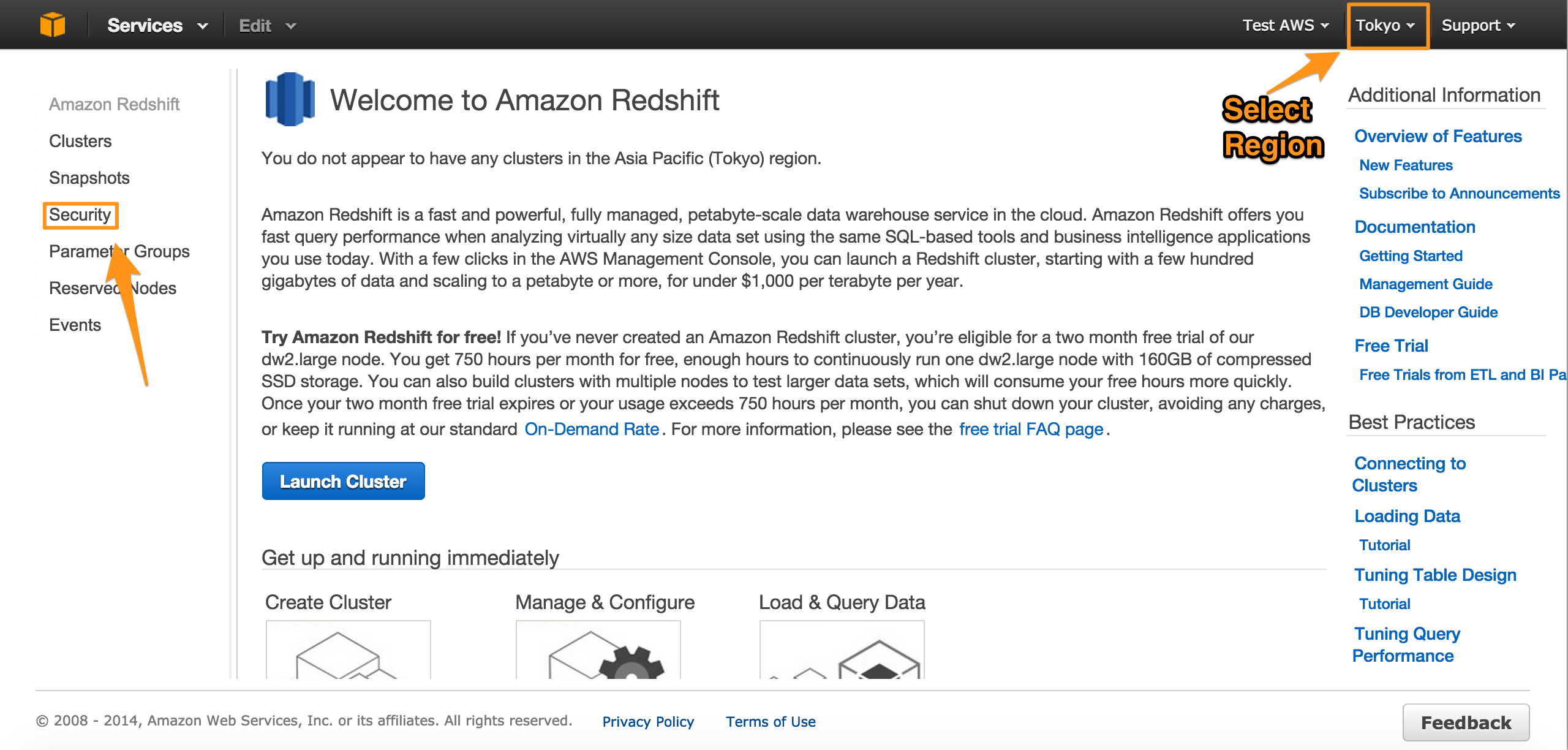 How to Create an Amazon Redshift Cluster | FlyData