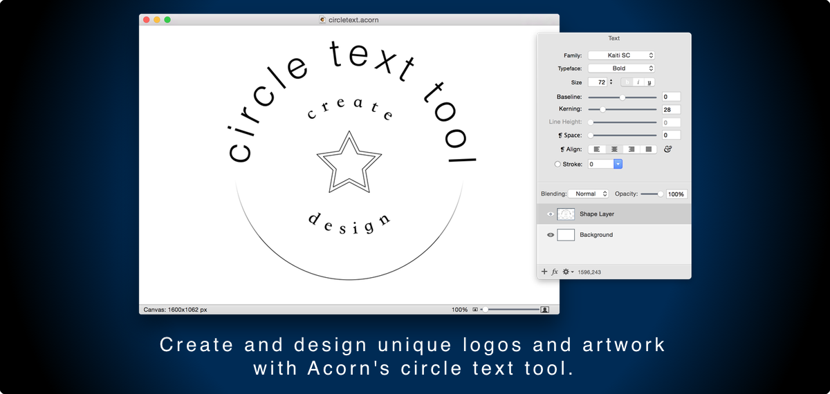 Arrange text in a circle