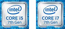 Ícono de Intel Core i5 de 7ma generación, ícono de Intel Core i7 de 7ma generación