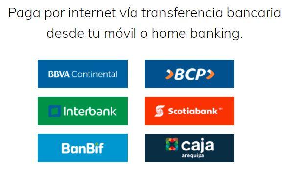 Banca por Internet o Banca Móvil