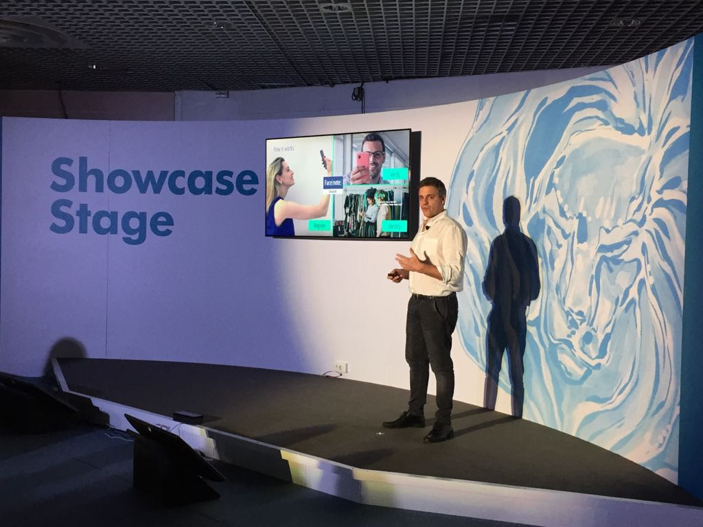 Facenote presentation at the Showcase Stage