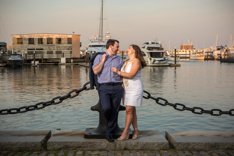 Boston engagement pictures in North End