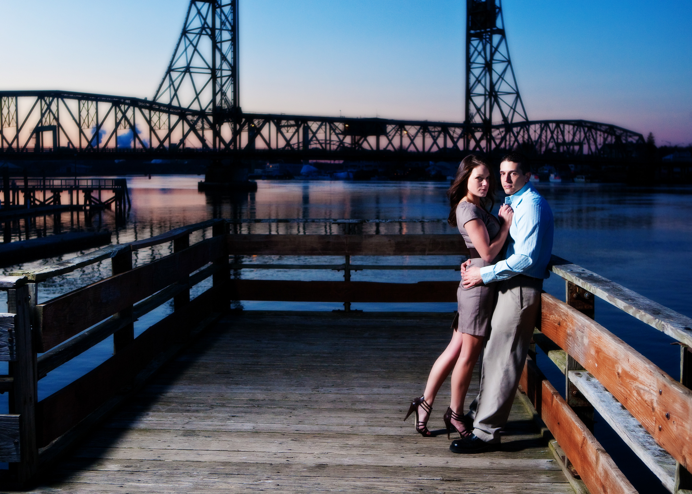 Engagement Pictures at Portsmouth's Waterfront