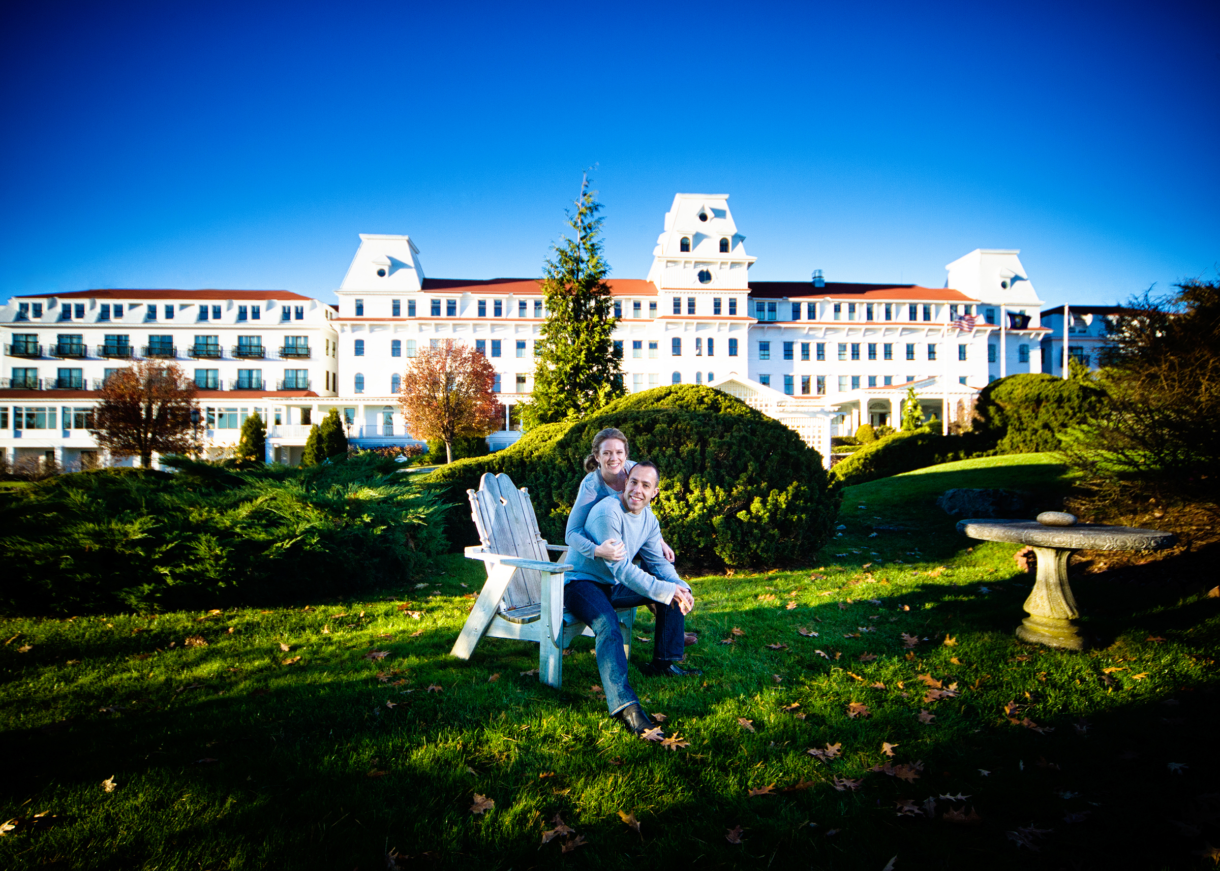 Engagement Pictures at the Wentworth by the Sea
